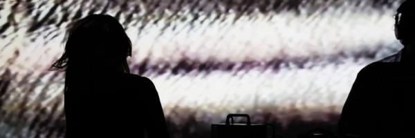 David Abravanel (Music) & Theresa Baumgartner (Visuals) live at UNRENDER //Lehrter 17