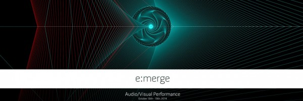 e:merge | a/v performance | in anaglyph 3d